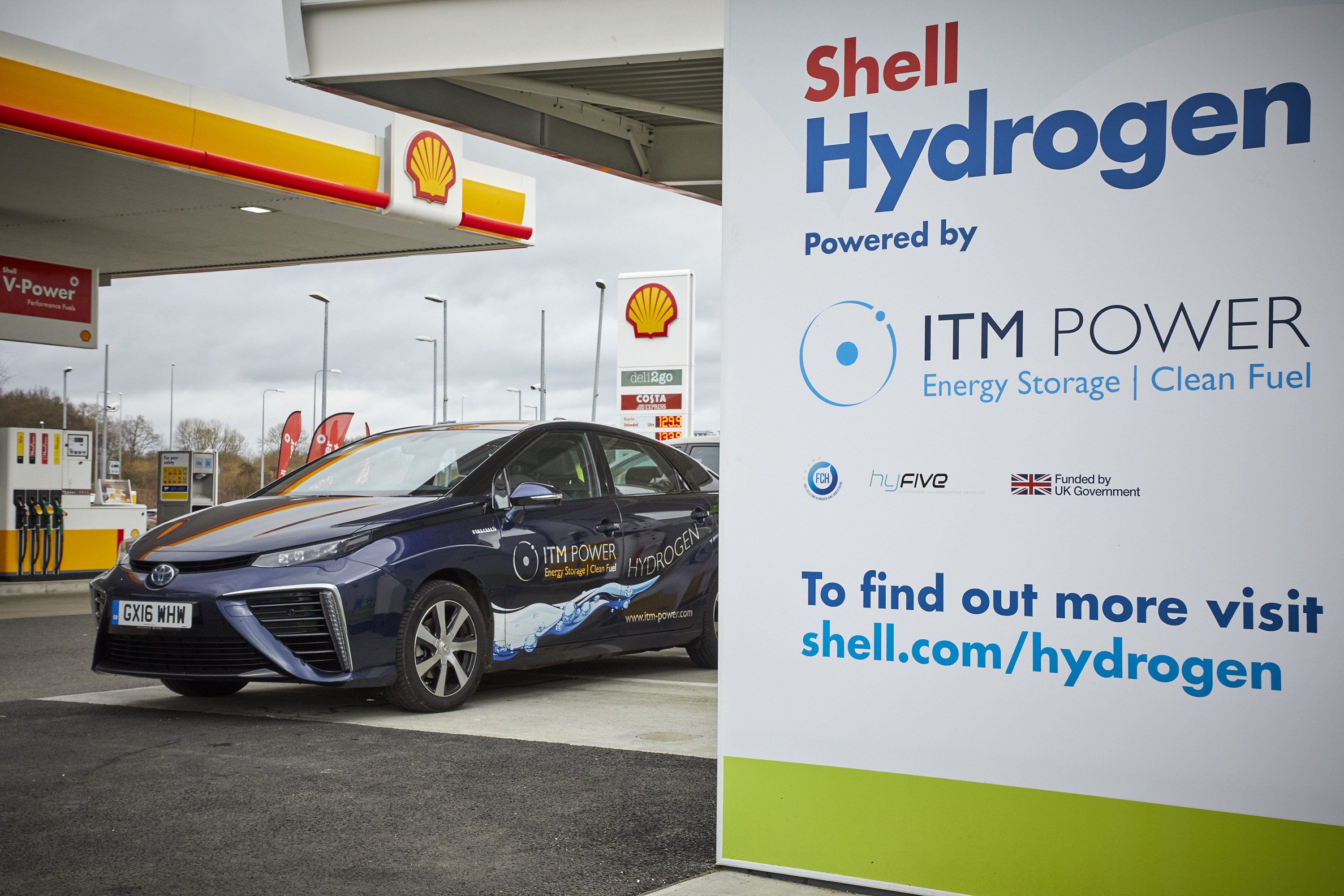 ITM Power Hydrogen Station Shell Cobham